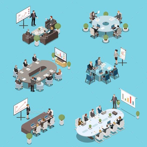 Meeting Room Isometric Set
