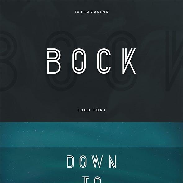 Bock - Logo Font