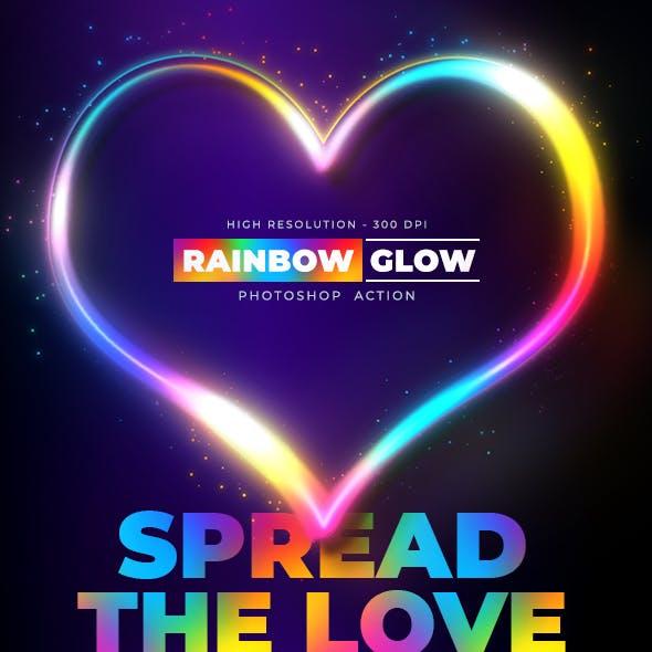 Rainbow Glow - Photoshop Action