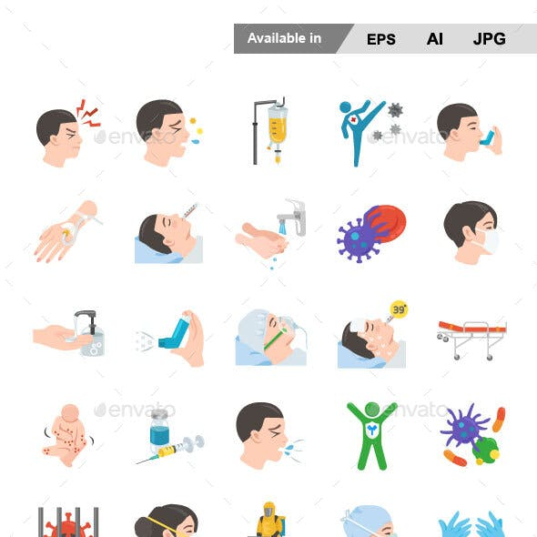 Disease Color Vector Icons