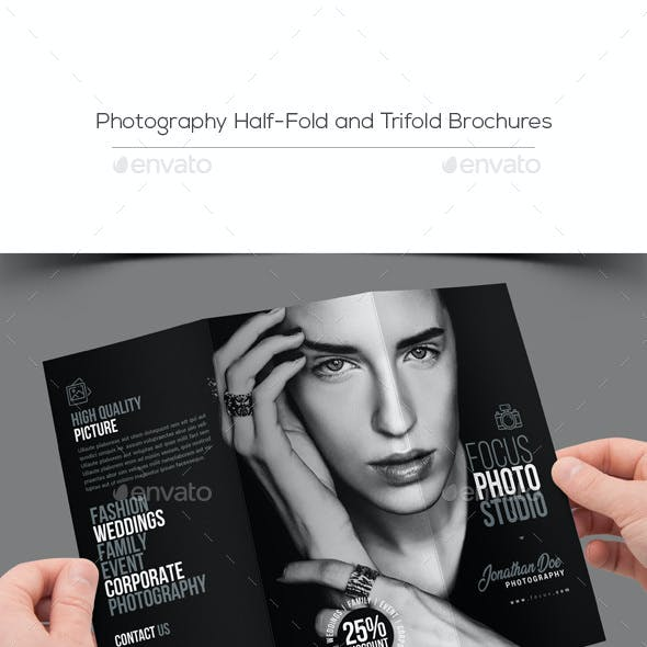 Photography Half-Fold and Trifold Brochures