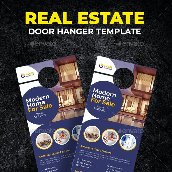 Real Estate Door Hanger