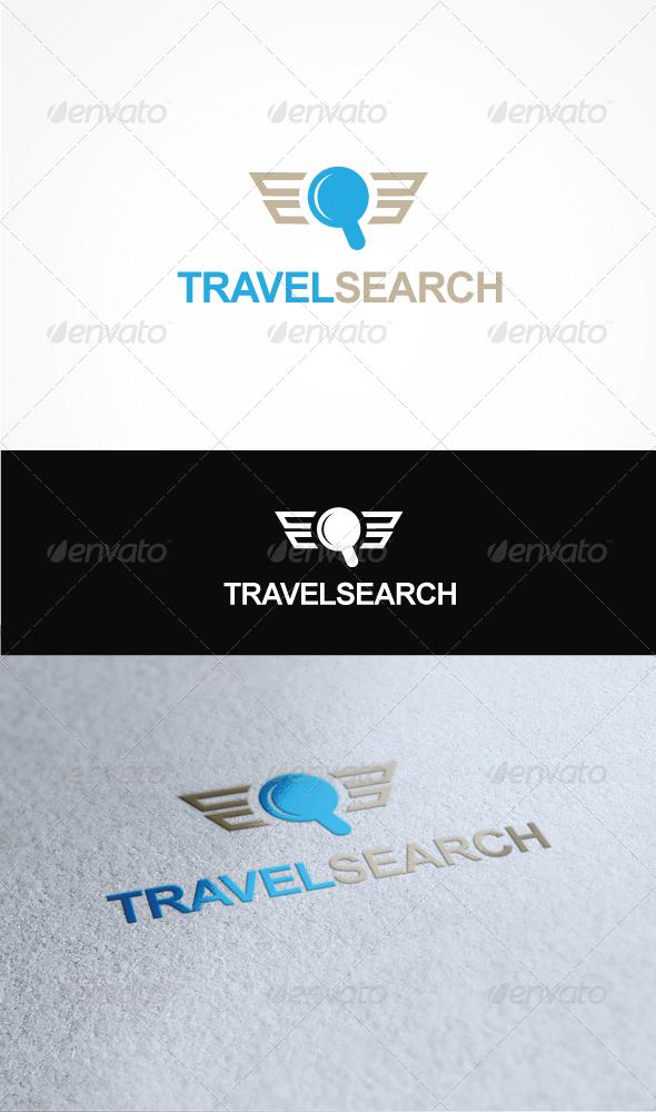 Travel Search - Vector Abstract