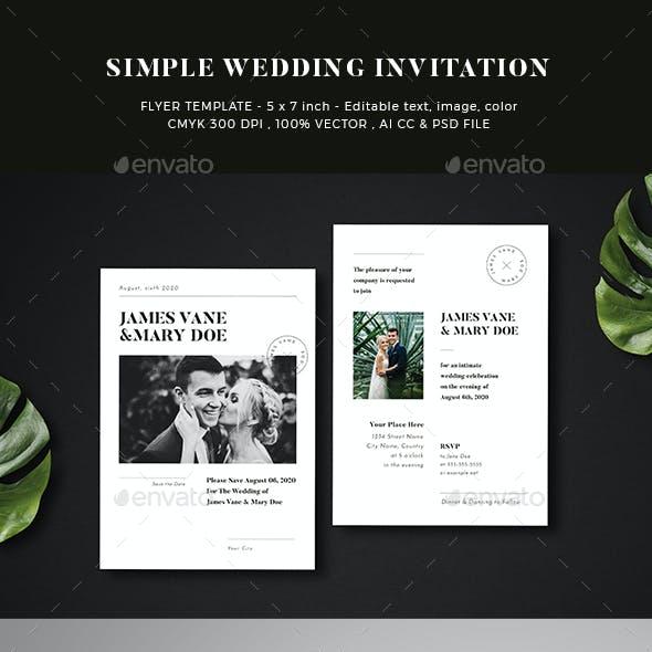 Simple Wedding Invitation 02