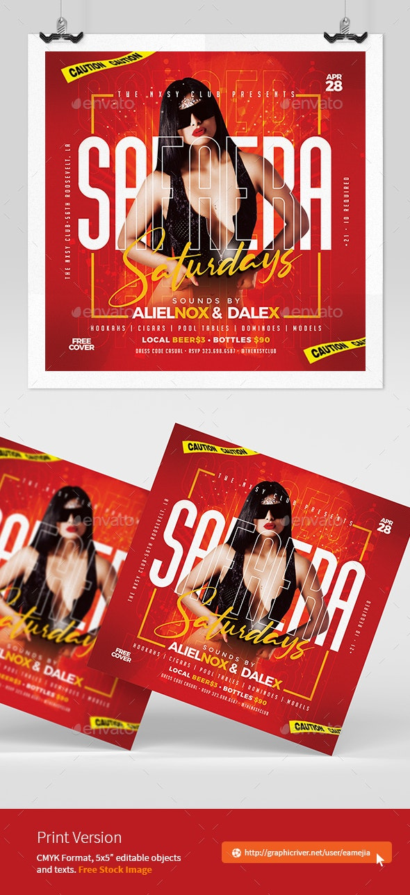 Reggaeton Party Flyer - Clubs & Parties Events