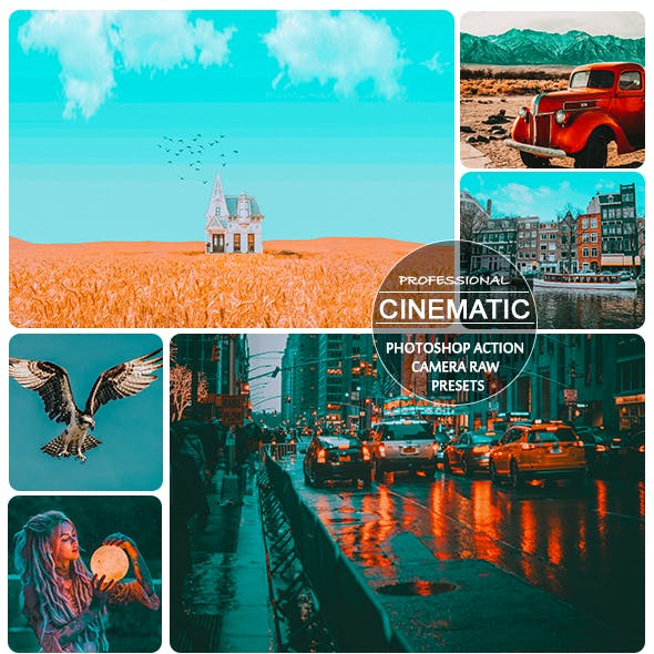 Professional Cinematic Action and Xmp Presets for Photoshop