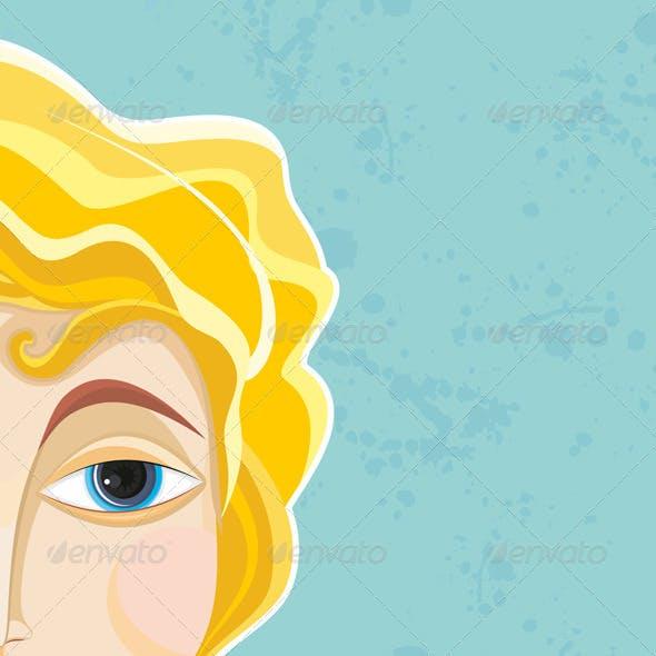 Blond Girl Face Part Close-up