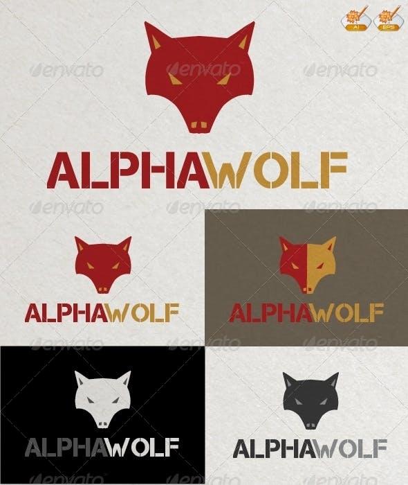 Alpha Wolf Logo Template