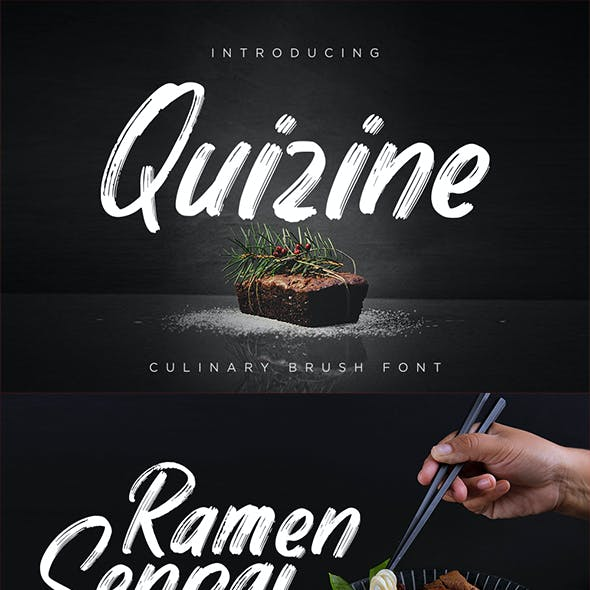 Quizine - Culinary Brush Font