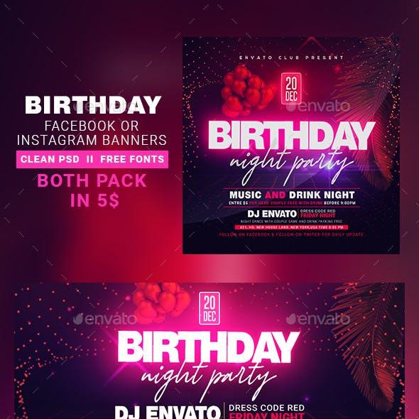 Birthday Instagram Banner & Facebook Cover