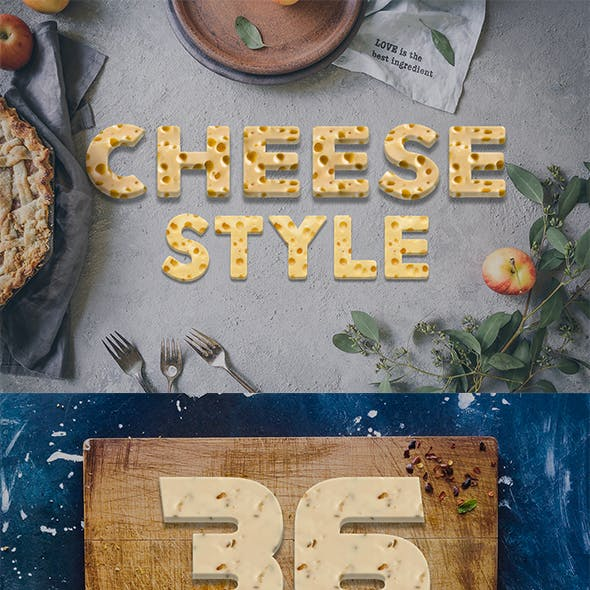 36 Cheese Style Text Effect