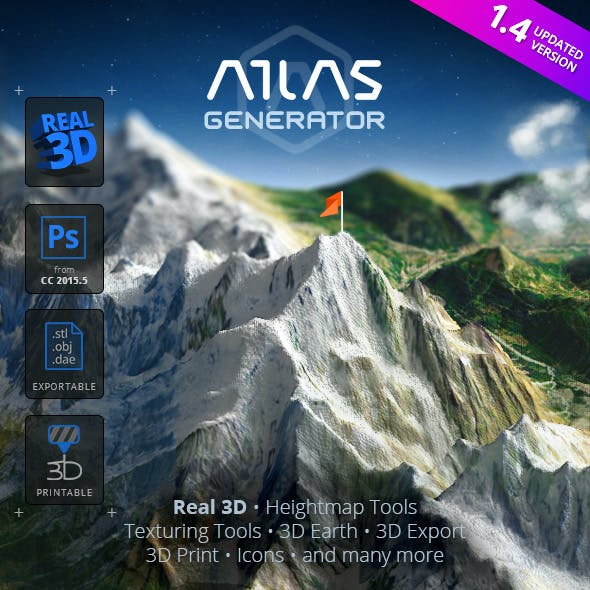 3D Map Generator - Atlas - From Heightmap to real 3D map