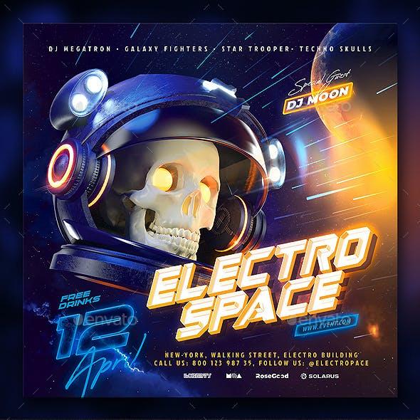 Electro Space Party Flyer vol.2