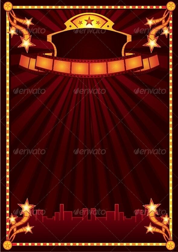Cinema announcement - Backgrounds Decorative