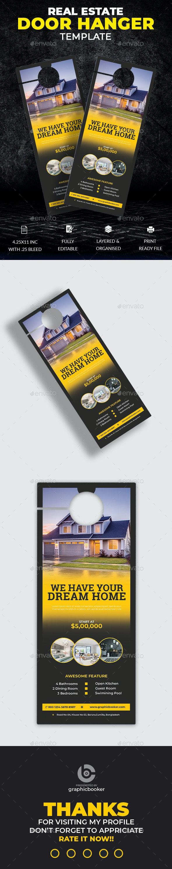Real Estate Door Hanger - Miscellaneous Print Templates