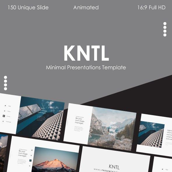 KNTL – Clean & Mnml Powerpoint Template