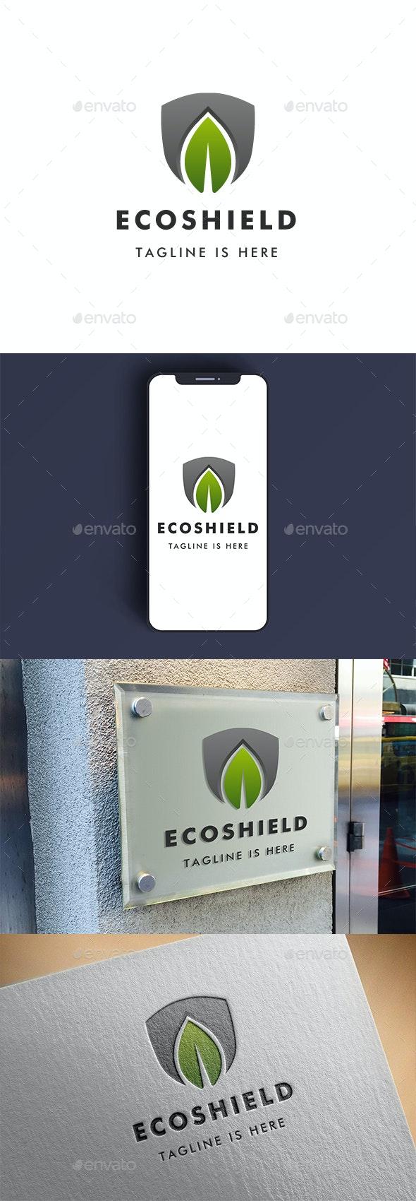 Eco Shield Logo - Nature Logo Templates