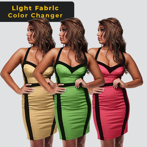 Light Fabric Color Changer - Photoshop Action