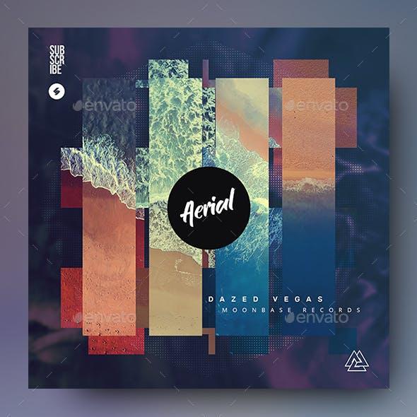 Aerial - Music Album Cover Artwork Template