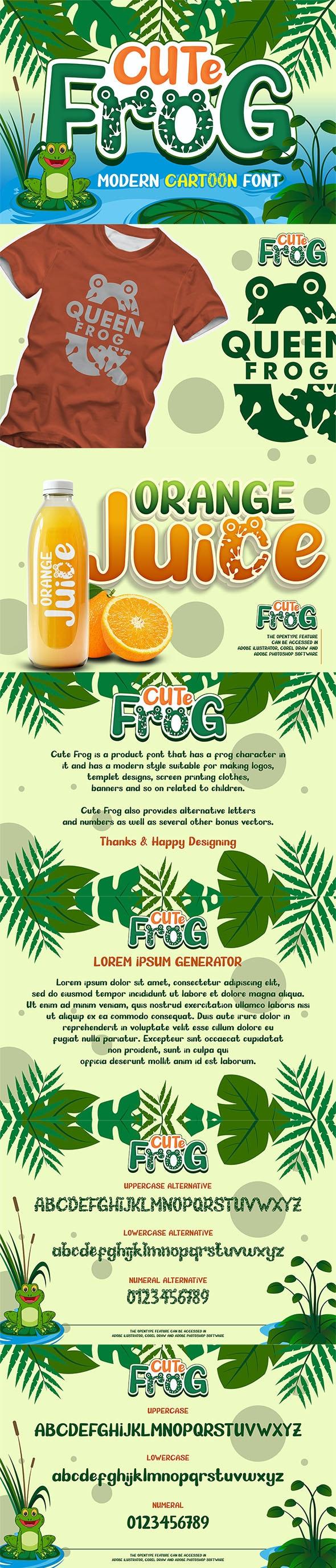 Cute Frog - Craf Font - Fancy Fonts