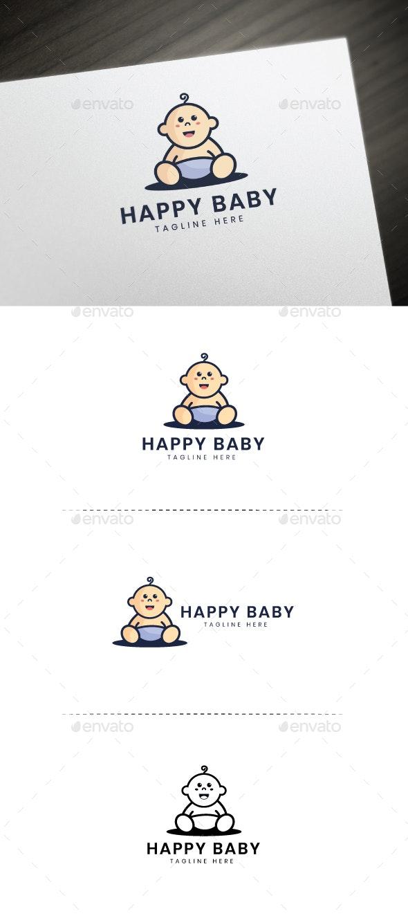 Happy Baby Logo - Humans Logo Templates