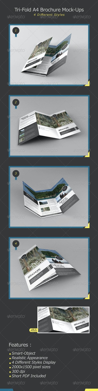 Tri-Fold A4 Brochure Mock-Ups - Brochures Print