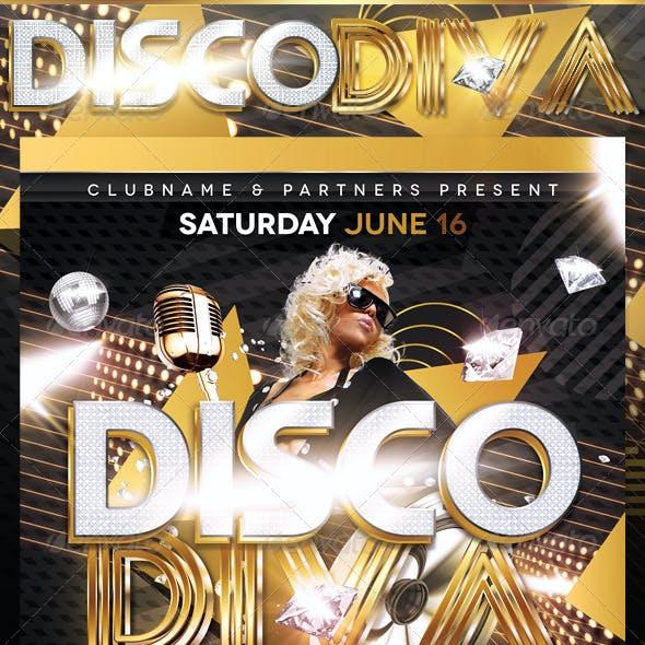 Disco Diva Flyer Template