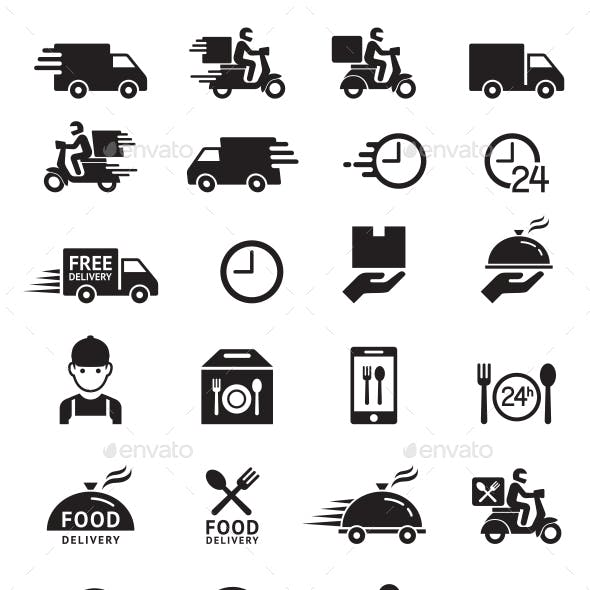 Food Delivery Service Icons