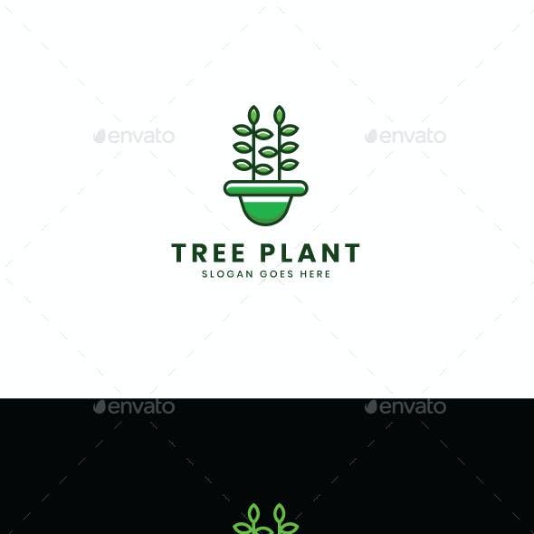 Tree Plant Logo template
