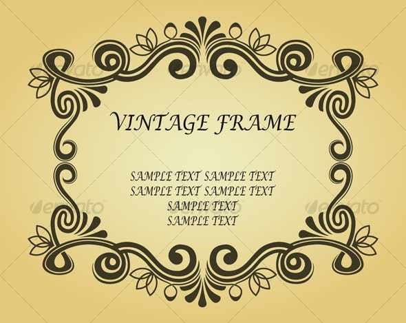 Vintage frame in ancient style - Decorative Vectors