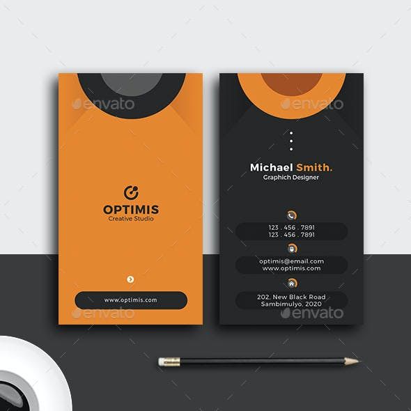 Vertical Teloletom Creative Business Card