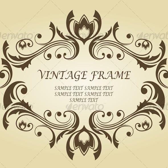 Vintage frame for ornate