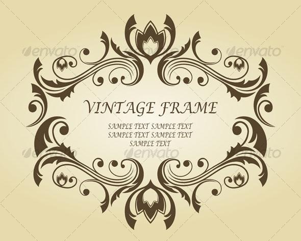 Vintage frame for ornate - Flourishes / Swirls Decorative