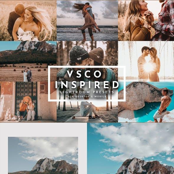 VSCO Inspired Lightroom Presets Pack For Desktop+Mobile