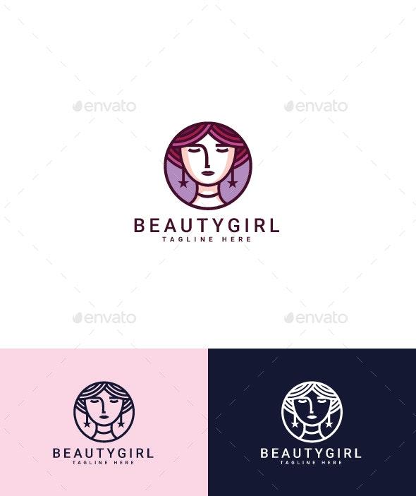 Beauty Girl Logo - Humans Logo Templates