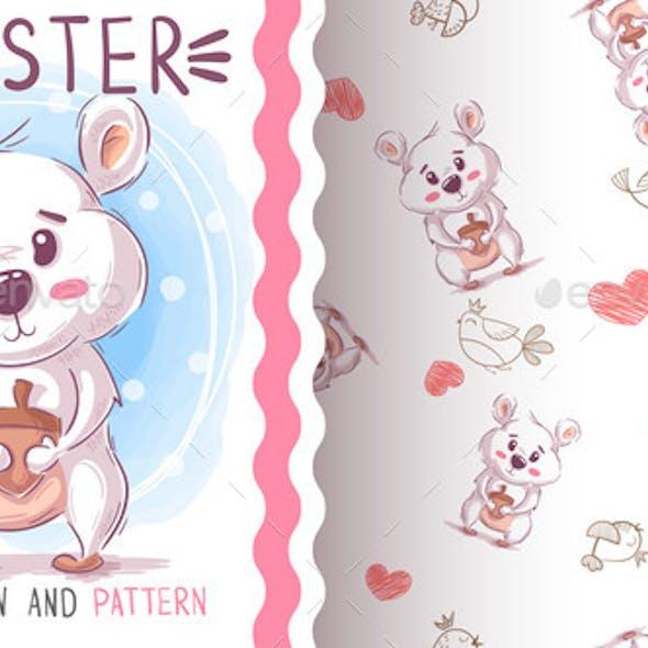 Teddy Hamster - Seamless Pattern