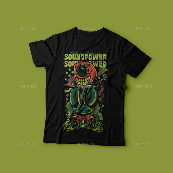 Sound Power T-Shirt Design