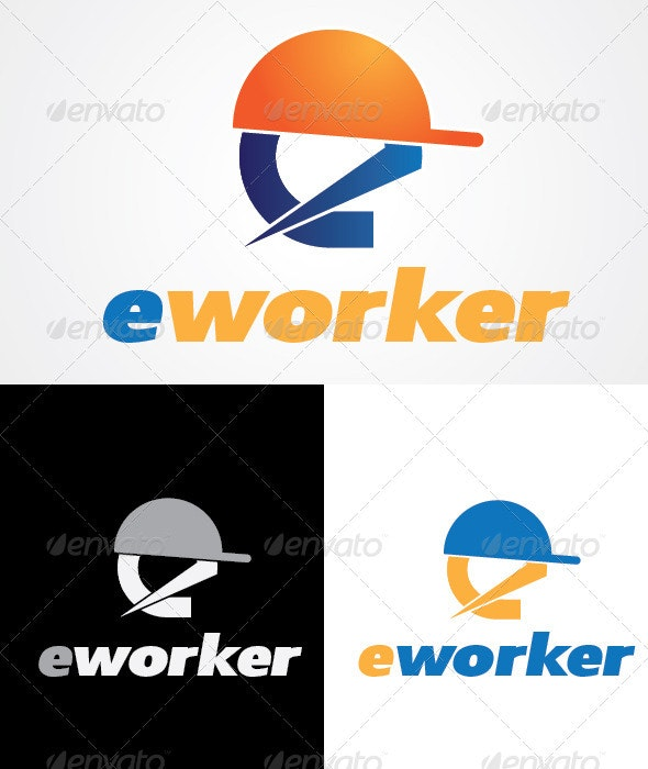 E-worker Logo Design - Letters Logo Templates