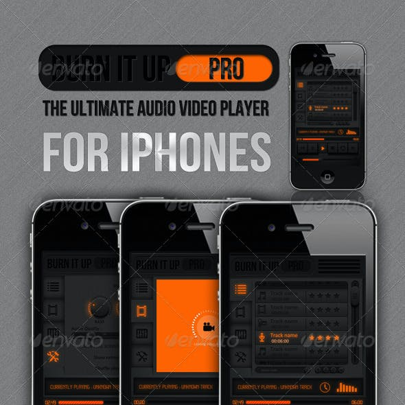Ui Kit For iPhones - Burn It Up Pro