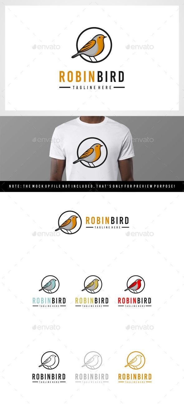 Robin Bird - American Bird Logo - Animals Logo Templates