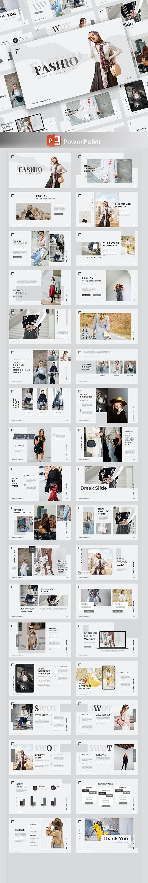 Fashio – Creative Business PowerPoint Template - Creative PowerPoint Templates