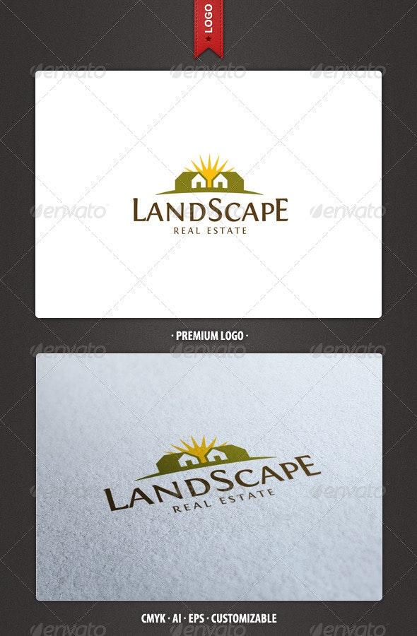 Landscape - Real Estate Logo Template - Buildings Logo Templates