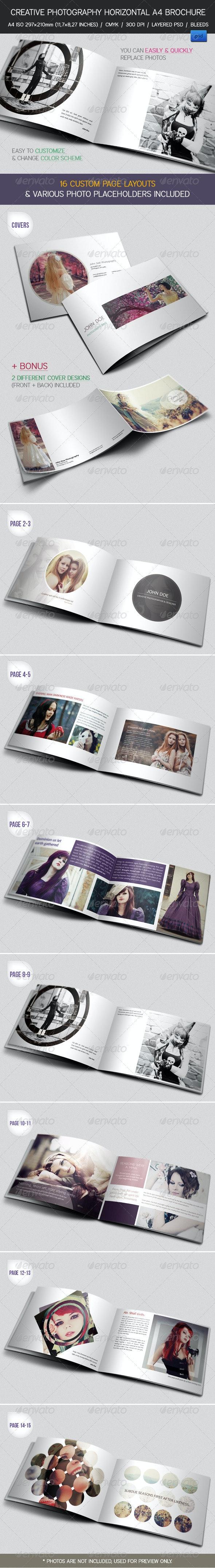 Creative Photography Portfolio A4 Brochure - Portfolio Brochures
