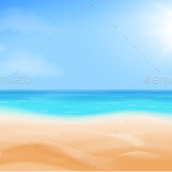 Beach and Tropical Sea. Seaside View,