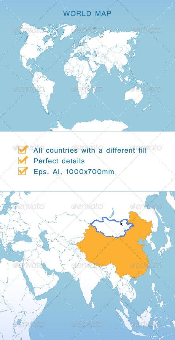 World Map - Travel Conceptual