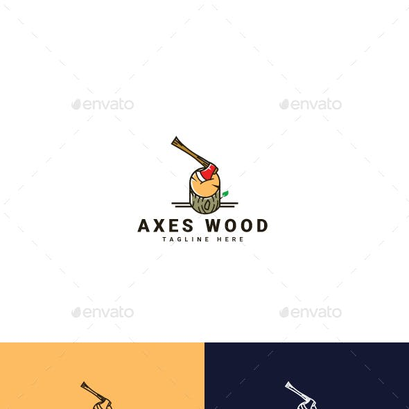 Axes Wood Logo