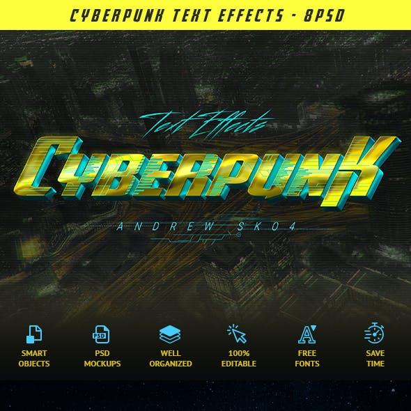 Cyberpunk Text Effects vol 3