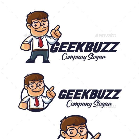 Business Man Mascot Logo