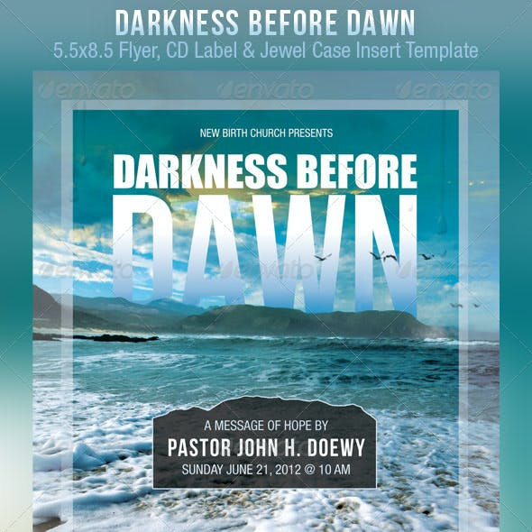 Darkness Before Dawn Church Flyer CD Template