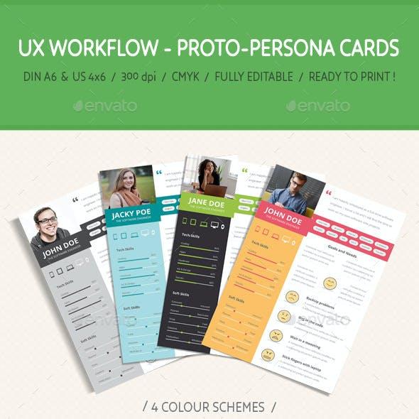 UX Workflow - Proto-Persona Cards - Volume 01
